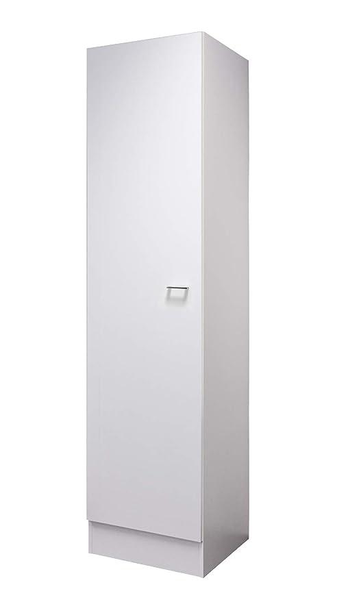 Flex-Well Hochschrank LUCCA   Geschirrschrank   1-türig, 4 Fächer   Breite  50 cm   Weiß