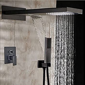 22  Oil Rubbed Bronze Square Rain Shower Head Faucet Showerhead Handheld Spray