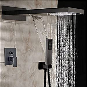 rain shower head with handheld spray. 22  Oil Rubbed Bronze Square Rain Shower Head Faucet Showerhead Handheld Spray