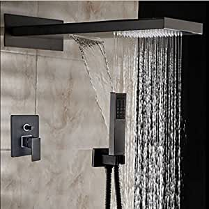 22 Quot Oil Rubbed Bronze Square Rain Shower Head Faucet