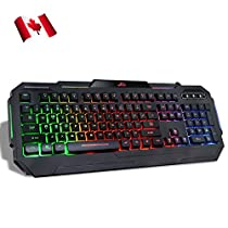 Rii 5-color LED Backlit Wired Gaming Keyboard MechanicalFeeling-K903