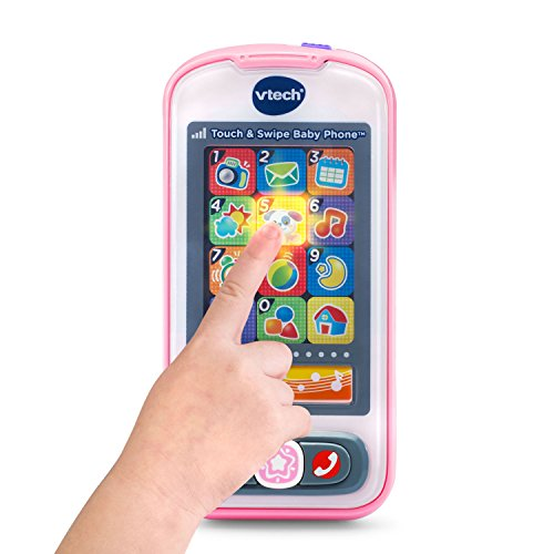 VTech Touch and Swipe Baby Phone - Pink - Online Exclusive by VTech (Image #1)