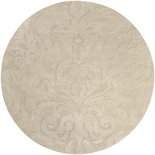 Surya Transitional Round Area Rug 8' Ivory Sculpture Collection (Surya 8' Round Sculpture)