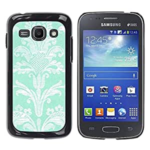 Paccase / SLIM PC / Aliminium Casa Carcasa Funda Case Cover para - Pattern Flowers Turquoise Wallpaper Vintage - Samsung Galaxy Ace 3 GT-S7270 GT-S7275 GT-S7272