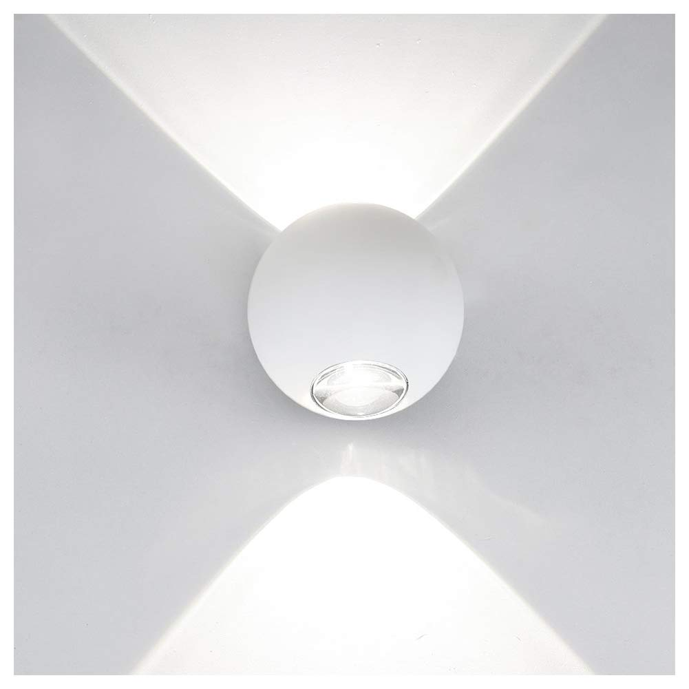 Ralbay Wall Mounted LED Sconce Lighting Wall Decor Up and Down Design 6W Aluminum Decorative Lights Lamp for Theater Bedroom Hallways Stairwells(White 4000K-4500K)
