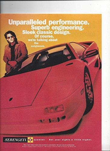 Magazine Print Ad For Serengeti Sunglasses Red Porsche - Sale Serengeti For Sunglasses