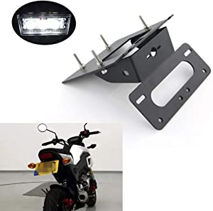 Xitomer Fender Eliminator, Tail Tidy for HONDA GROM MSX125 2017 2018 2019 2020 with Led License Plate Light, Compatible with OEM/Stock Turn Signal (Black)