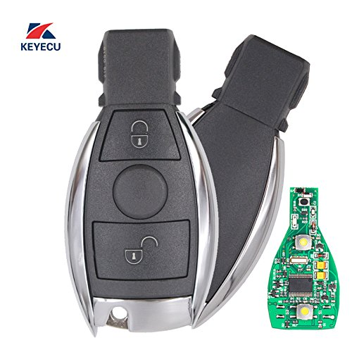 Nec 2 Button (Keyecu Replacement Remote Car Key Fob 2 Button 315MHz NEC Chip for Mercedes-Benz 2000-2014, Support NEC & BGA)