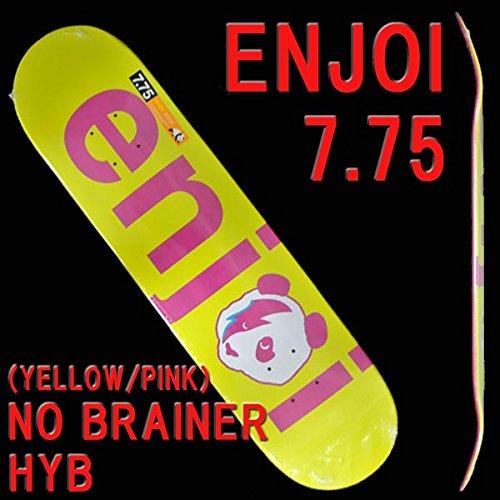 スリップシューズくびれた含意ENJOI/エンジョイNO BRAINER HYB YELLOW/PINK 7.75 DECK SK8 スケートボード/スケボーデッキ [並行輸入品]