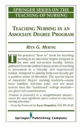 Teaching Nursing In An Associate Degree Program (Springer