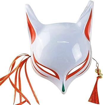 Máscara de zorro de Halloween para adultos y niños japoneses ...