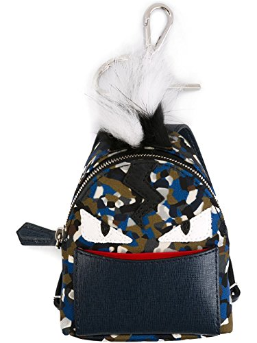 Fendi Men's 7AR4325X0F01XT Multicolor Polyamide Key Chain