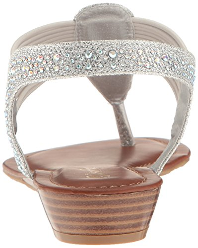 Glitter Wedge Sandal PAIRS Spark Silver Women DREAM qYU74n