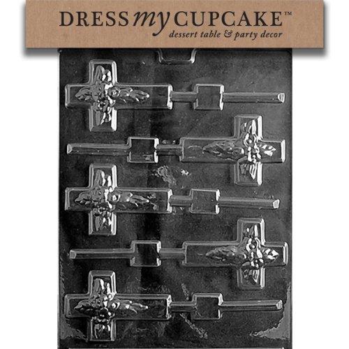 Dress My Cupcake Chocolate Candy Mold, Cross Lollipop]()