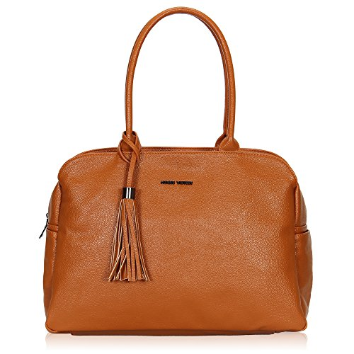Hynes Victory Large Tote Bag Simple Shoulder Bag for Woman Tassel Handbag ()