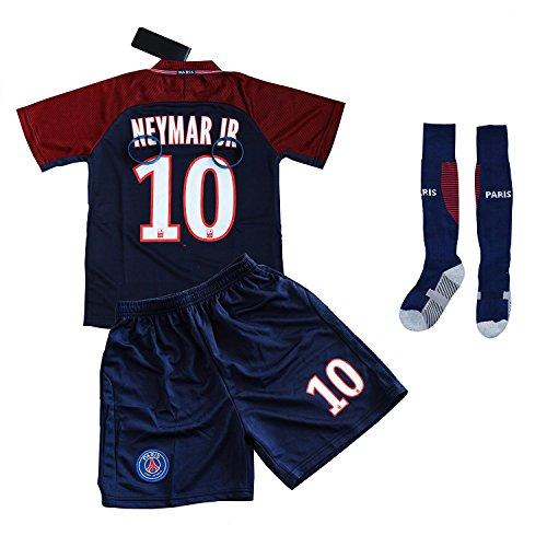 Soccer Kids Jersey #10 Neymar Jr. Home Soccer Jersey Shorts Socks Bracelets Set Youth Sizes by Fans Choice – DiZiSports Store