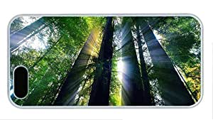 Hipster iphone 5S covers carry redwood forest california PC White for Apple iPhone 5/5S