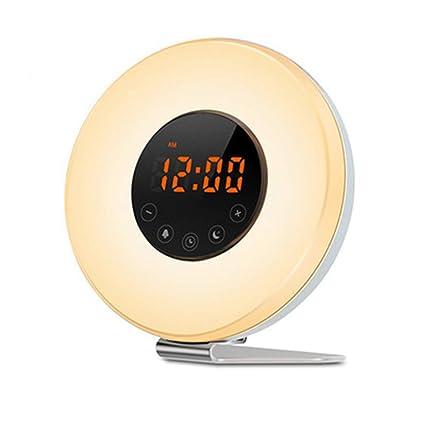 Despertador de luz despertador SOLMORE con radio FM reloj digital ...