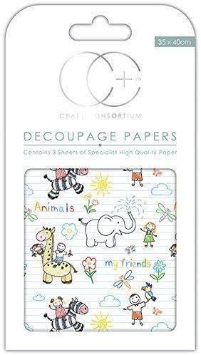Kids Craft Consortium Premium Decoupage Papers Friends