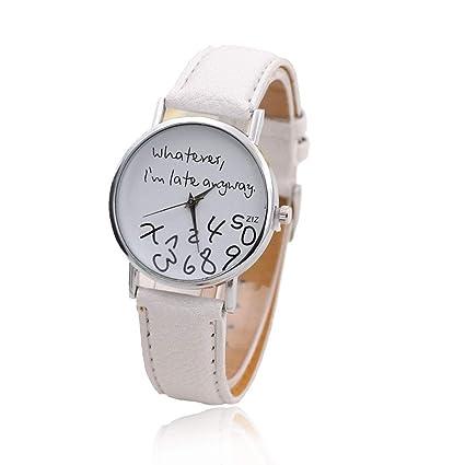 TrifyCore Único Nuevo reloj divertido de la manera Mujeres Hombres Cuarzo analógico Lo que sea,