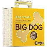 Sojos Big Dog Crunchy Natural Large Dog Treats, Biscuits & Gravy, 12-Ounce Bag