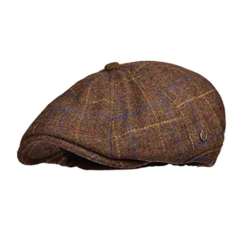 VOBOOM Winter 8 Panel Wool Tweed newsboy Gatsby IVY Cap Golf Cabbie Driving Hat (188-Yellow) (Wool Panel)
