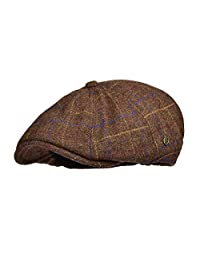 VOBOOM Winter 8 Panel Wool Tweed Newsboy Gatsby Ivy Cap Golf Cabbie Driving Hat