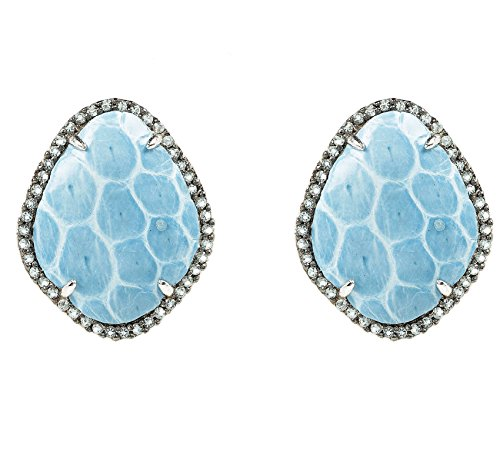 Snakeskin Diamond CZ Earring Ice Blue