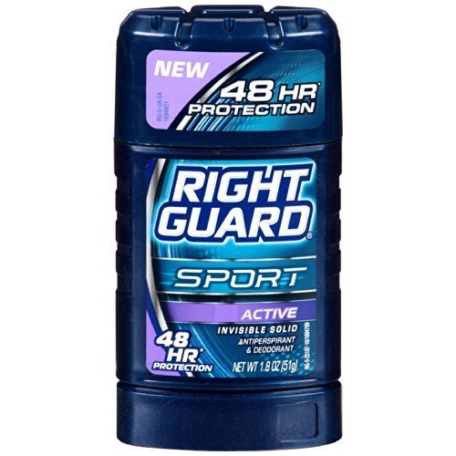 Right Guard 48 Hr. Invisible Solid Anti-Perspirant Sport Active Deodorant (Pack of 6)