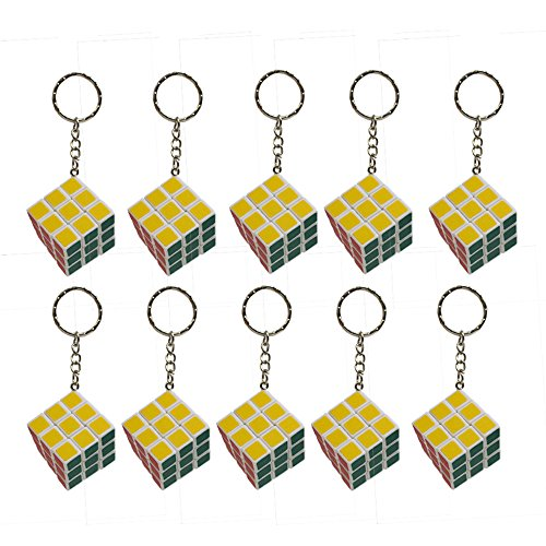 Mini Game Keychain (Kidsthrill Mini Keychain Puzzle Cube Set Of 10 3x3 Mini Game Party Favor)