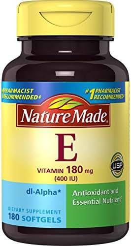 Nature Made Vitamin E 400IU, 180 Softgels
