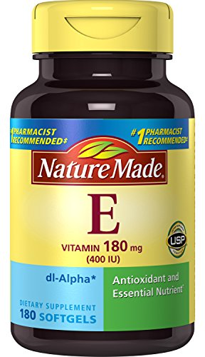 Nature Made Vitamin E 400IU, 180 Softgels