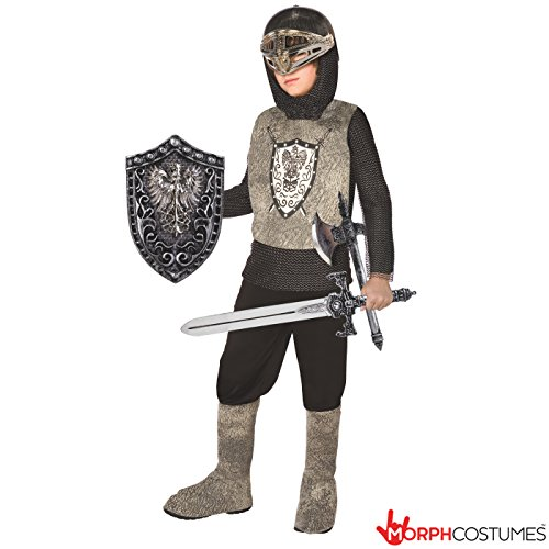 Kids Knight Costume Childrens Medieval Armour Dress Up Outfit – Small (Age 3-5)