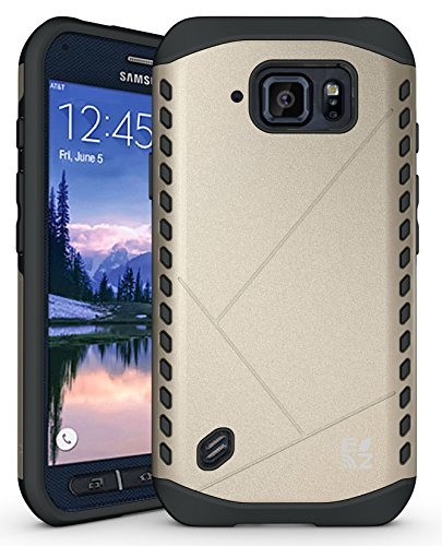 ECOZ [SHIELDX LITE] Slim Protective Dual Layer Armor Case Cover for Samsung Galaxy S6 Active - Ezgear Protective Case