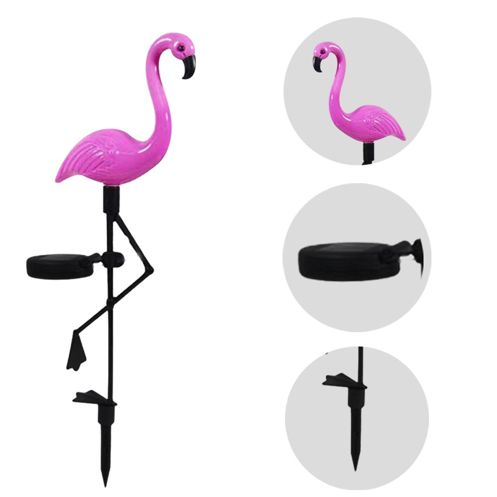 Solar Ground Spike Light Outdoor Waterproof Highly Simulated Flamingo Lawn Lamp Ksruee