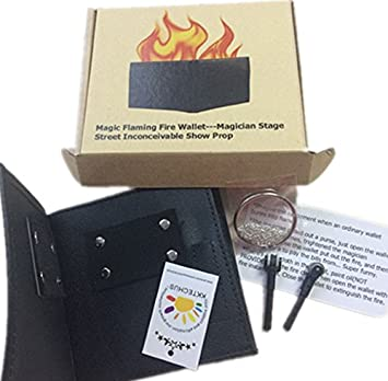 2cf7ae8c623 Amazon.com  KKTech Magic Flaming Fire Wallet Magician Stage Street  Inconceivable Show Prop  Beauty