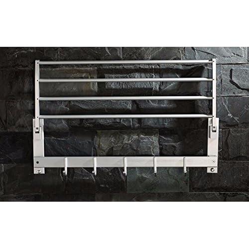 KHSKX With hook activity space aluminum Towel rack bathroom shelf Towel rack bathroom hardware accessories 60%OFF