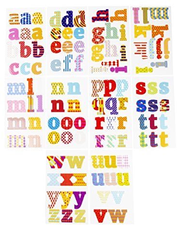 Letter Stickers - 333-Count Alphabet Stickers A-Z, Colorful Lowercase Letter Sticker Labels for Kids, Teachers, Students, Good for Crafts, Classroom Decor, Bulletin Boards, 2.8 inches High