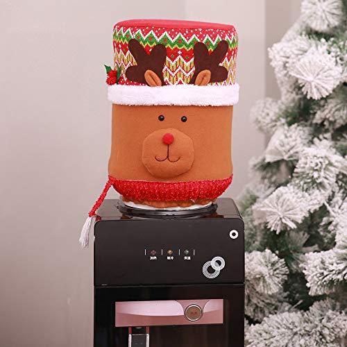 (Iusun Christmas Cartoon Doll Water Dispenser Barrel Cover, Elastic Dust Cover as Xmas Water Dispenser Decor (C))