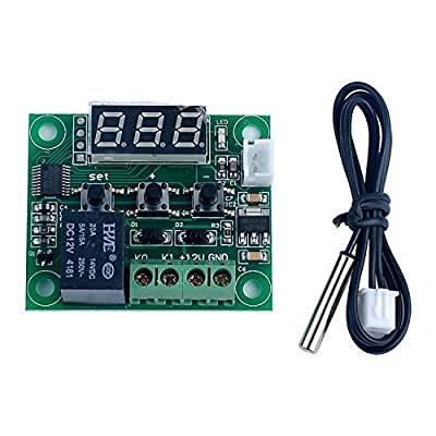 ARCELI -50-110°C W1209 DC 12V Digital Mini Thermostat Temperature Controller Control Switch Sensor Module 1