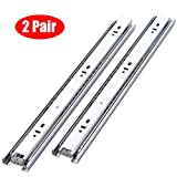 "KINGO Home 2 Pair of 18 inch Full Extension Stainless Steel Hardware Ball Bearing Side Mount Drawer Slides, Available in 10'' 12'' 14'' 16'' 18"" 20"" Lengths"