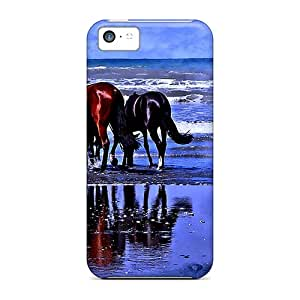 For Iphone Cases, High Quality Loving Couple At Beaches For Iphone 5c Covers Cases