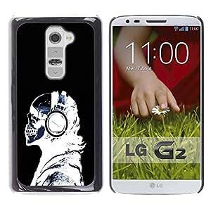 Be Good Phone Accessory // Dura Cáscara cubierta Protectora Caso Carcasa Funda de Protección para LG G2 D800 D802 D802TA D803 VS980 LS980 // X-Ray Skeleton Headphones