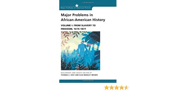Major Problems In African American History Vol  From Slavery To  Major Problems In African American History Vol  From Slavery To  Freedom  Documents And Essays Thomas C Holt Elsa Barkley  Brown