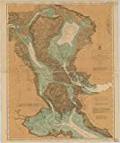 Vintography Reprinted 8 x 12 Nautical Map of Chart NO.2 of ST. Marys River from Twin Islands to Sault STE. Marie. 1902 Lake Survey 47a