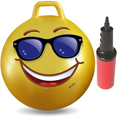 Cool Emoji Hopper Ball For Kids Ages 3-6 Includes Hand Pump