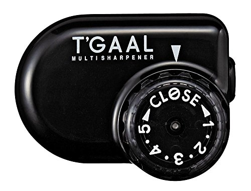 Kutsuwa STAD Angle Adjustable Pencil Sharpener T'GAAL, Black (RS017BK) 2-Pack