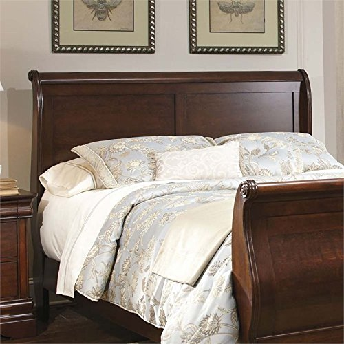 Liberty Furniture Carriage Court Queen Sleigh Headboard in Mahogany - Cherry Sleigh Headboard