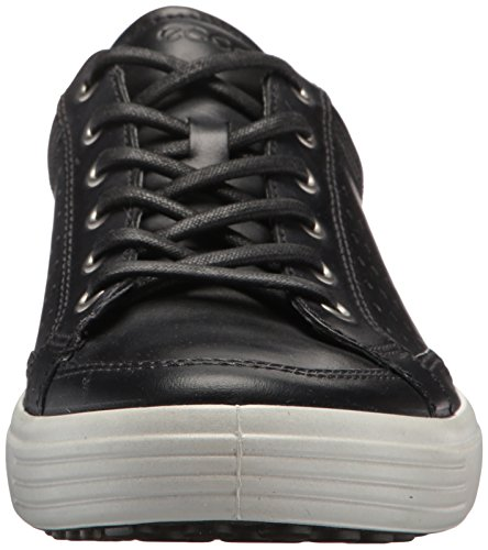 Ecco Heren Soft 7 Fashion Sneaker Zwart Retro Geperforeerd