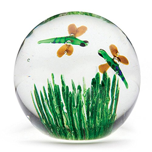 Handmade Glass Paperweight – Dragonfly Glow – 2 Tall, One-of-a-kind. FREE SHIPPING to the lower 48 on orders over $35